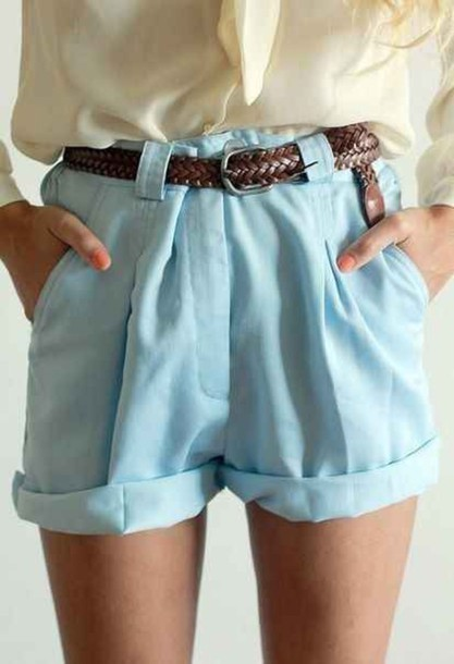 shorts clothes baby blue cute pants blue shorts