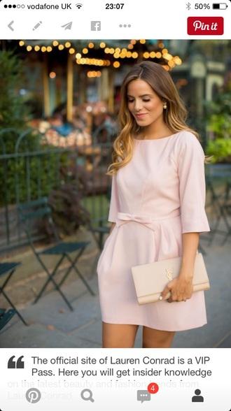 dress pale pink pink dress