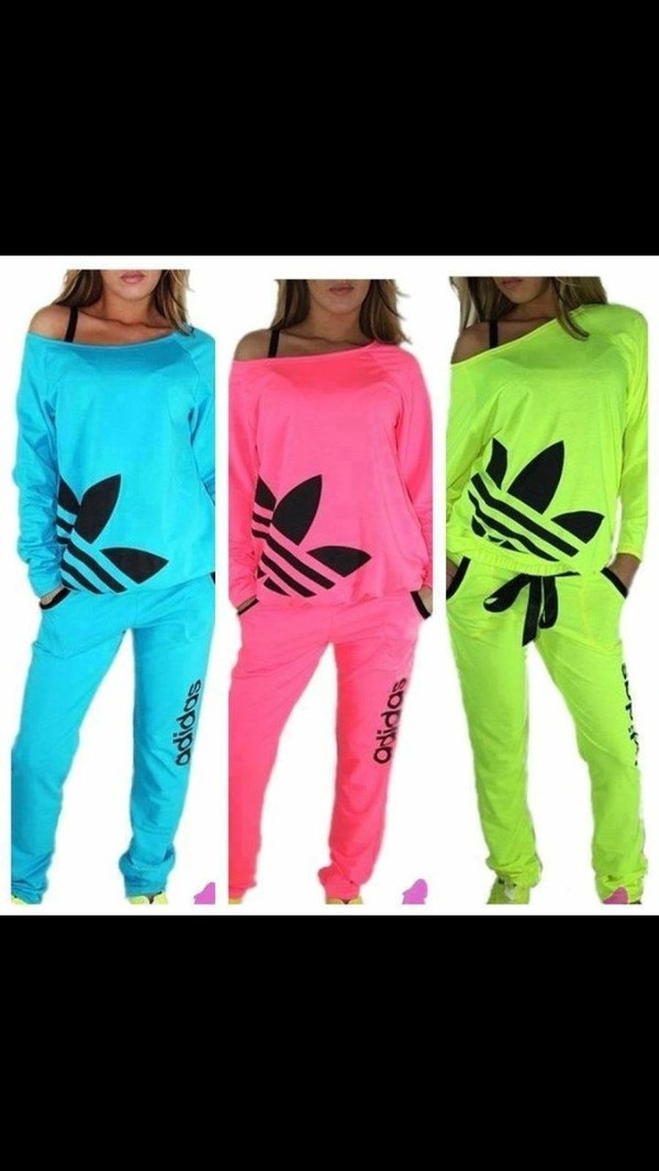 pants adidas sweats pajamas shirt adidas jacket clothes adidas neon sweater dress blouse adidas brand pink adidas light blue pink green matching set t-shirt nail polish fluo fluo jumpsuit adidas tracksuit adidas yellow adidas tracksuit adidas outfit adidas shirt adidas tracksuit bottom any colour love them allll ❤️❤️ neon adidas tracksuit cardigan addida sweatsuit top adidas sweater slouchy sweater off the shoulder sweater adidas neon off shoulderr