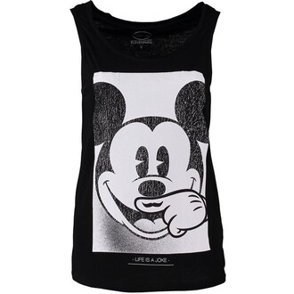 tank top mickey mouse mustache vintage