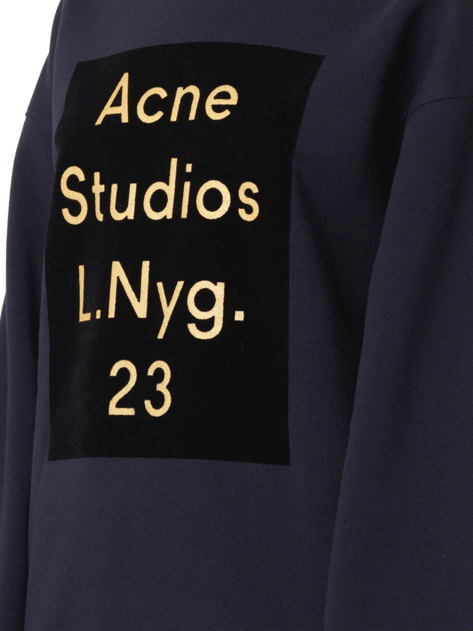 Beta flocked-logo sweatshirt | Acne Studios | MATCHESFASHION.COM