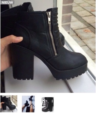 shoes black boots black shoes chunky boots grunge grunge boots