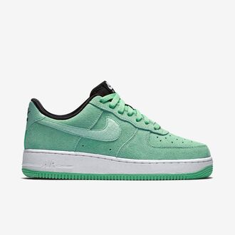 shoes green green sneakers pastel green suede sneakers sneakers nike nike sneakers platform sneakers nike air force 1