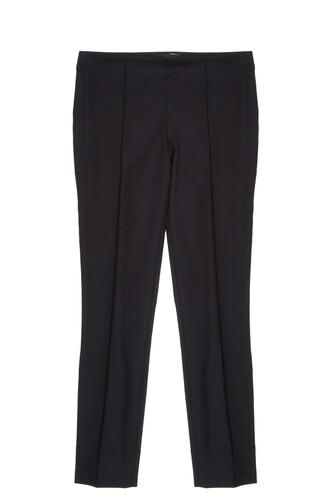 wool black pants