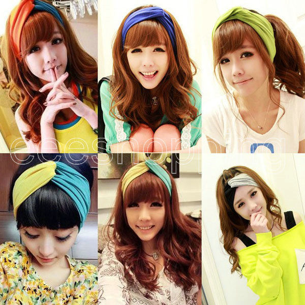 Korean Fashion Women's Girl Headband Hairband Winter Ear Warmer Turban Headwrap | eBay