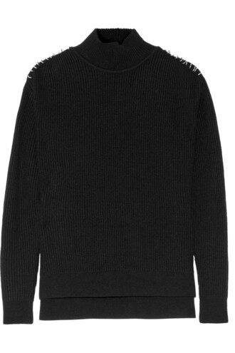 sweater embellished wool black