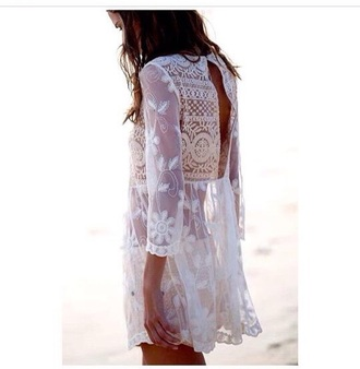 dress white dress tunic tunic dress lace dress boho dress