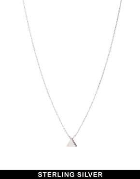 ASOS | ASOS Sterling Silver Triangle Necklace at ASOS