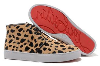 shoes christian louboutin louboutin pony leopard high top sneakers christian louboutin sneakers mens shoes menswear