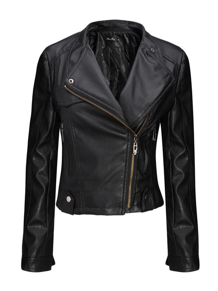 Zippa detail biker jacket