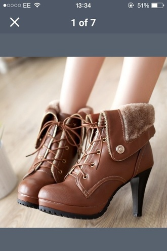 shoes boots ankle boots lace up heels tan lace up booties