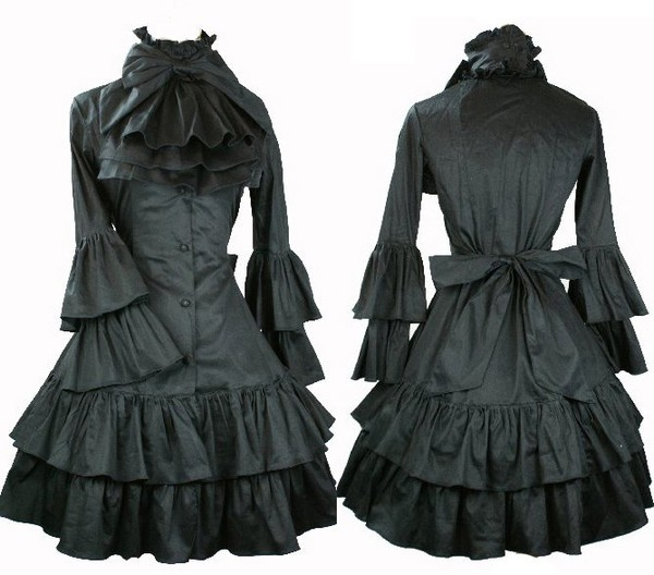 goth cosplay dress