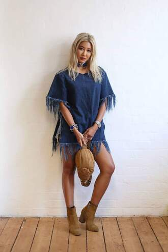 dress shirt blouse denom heans fringes dope cool amazing fashion t-shirt style