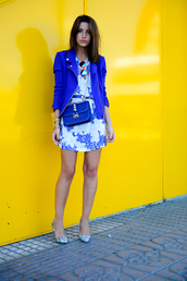 lovely pepa,dress,jacket,shoes,bag,sunglasses,jewels