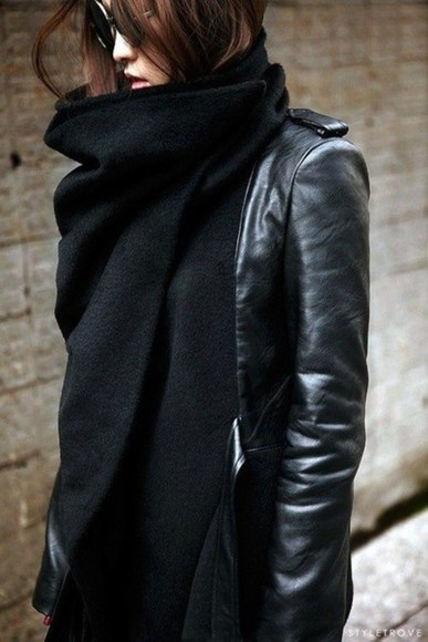 coat black leather leather jacket suede stylish