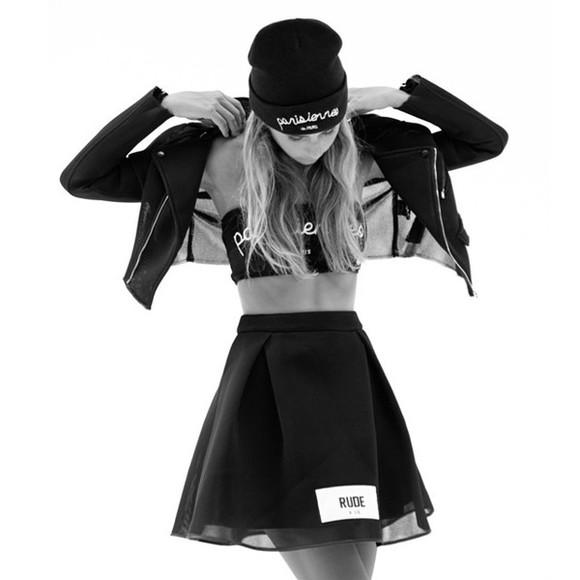 fashion lovely pepa black skirt black bikini