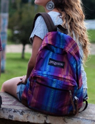 bag jansport backpack multicolored
