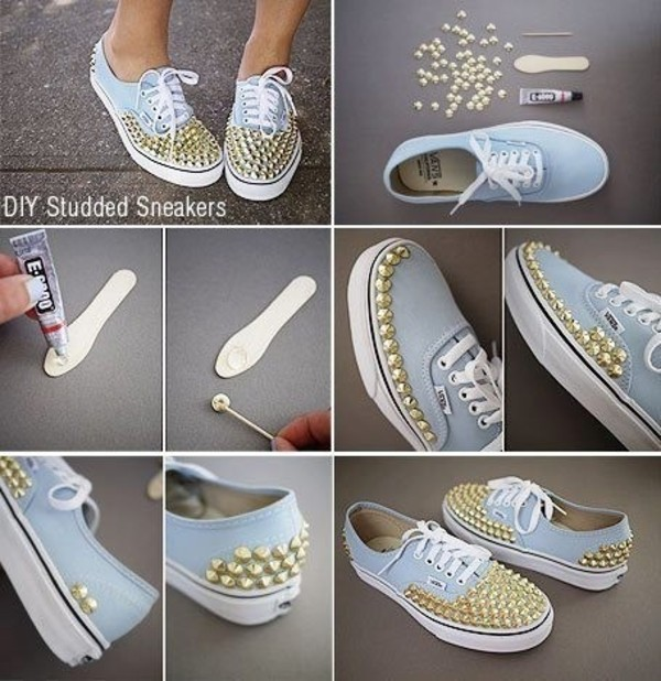 shoes vans homemade studs diy studded shoes