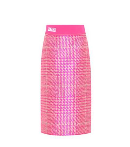 Fendi skirt wool pink
