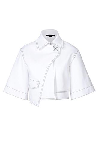 jacket cropped jacket cropped white