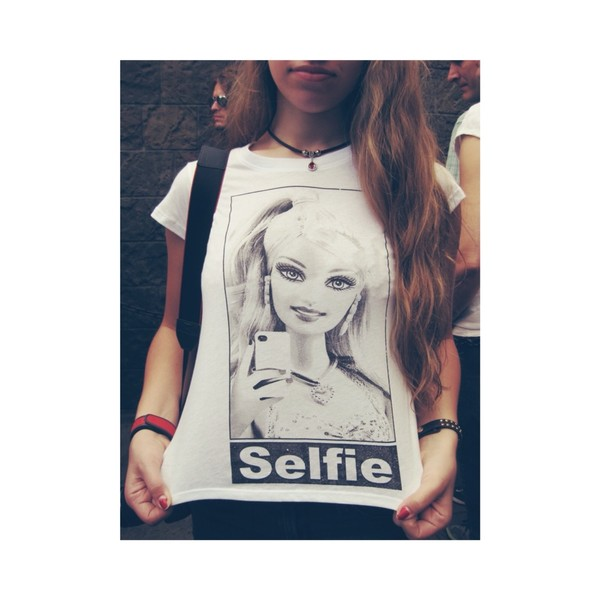 shirt selfie t-shirt barbie