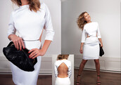 dress,chick,clothes,white dress,backout