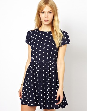 Yumi | Yumi Dress In  Large Polka Dot Print at ASOS