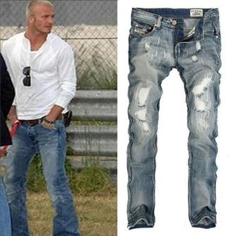 blue jeans backham pant men jean menswear diesel demin demin jeans