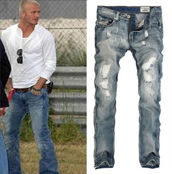 blue jeans diesel backham pant men jean menswear demin demin jeans