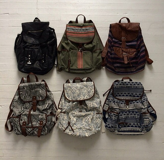 bag backpack vintage style ethnic print ethnic khaki black backpack fashion hipster love pattern black indie grunge