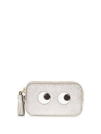 eyes purse silver bag