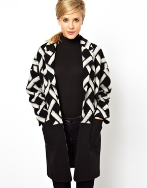 ASOS | ASOS Graphic Blocked Coat at ASOS