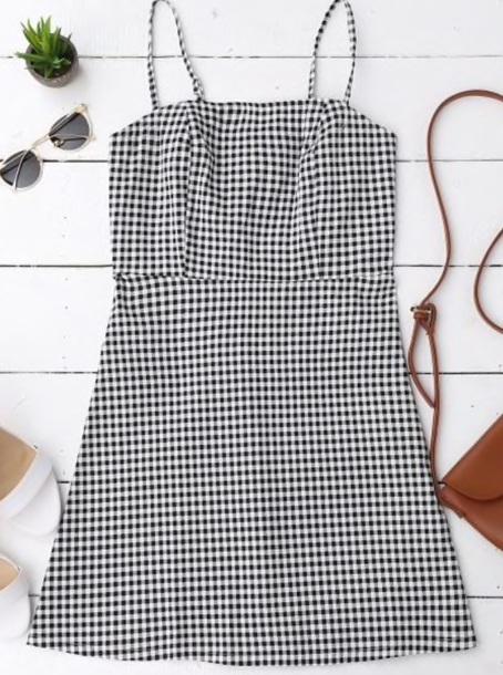 dress girly gingham gingham dresses black dress black checkered