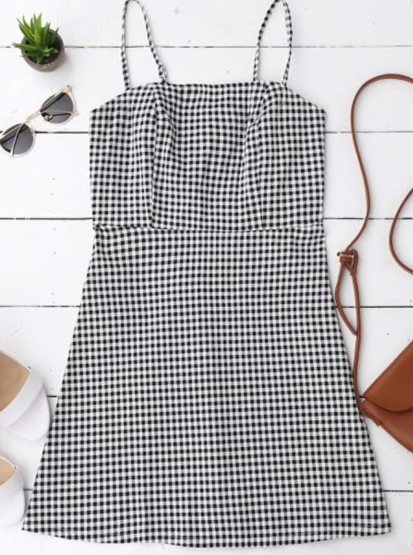 dress girly gingham gingham dresses black dress black checkered