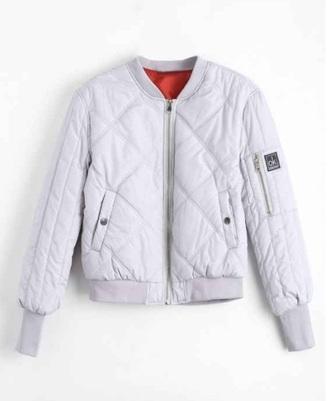 jacket girly bomber jacket white zip zip up jacket orange