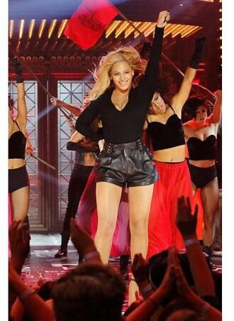 shorts top beyonce leather shorts leather fall outfits
