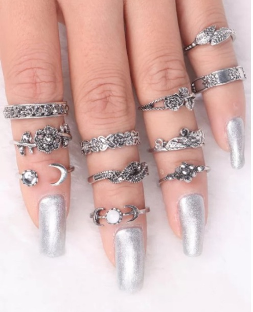 jewels girly knuckle ring rings cute summer ring silver ring