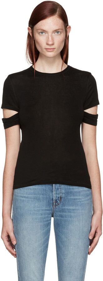 t-shirt shirt baby black top
