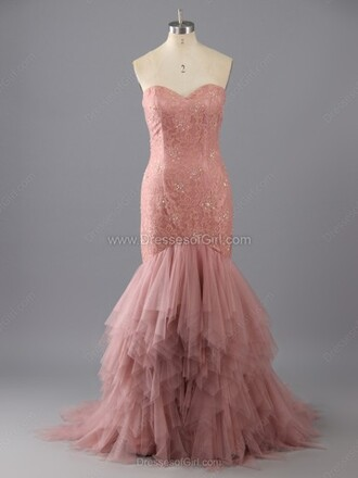 dress mermaid sweetheart lace tulle skirt sweep train prom dress mermaid sweetheart lace wedding dress pink fashion elegant prom gown homecoming dress style tulle dress dressofgirl