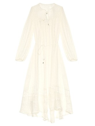 dress midi dress midi lace silk white