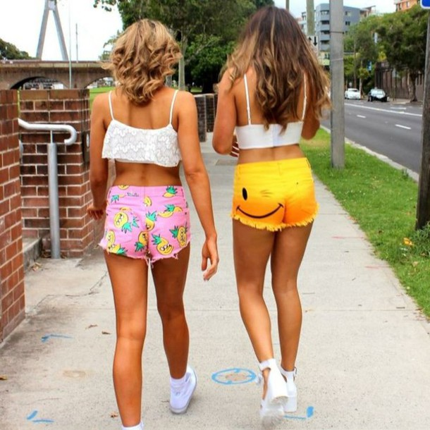 Shorts: short shorts, cheeky shorts, pink shorts, high waisted ...