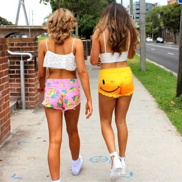 shorts, short shorts, cheeky shorts, pink shorts, high waisted