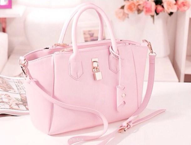 bag pink rose pastel bag