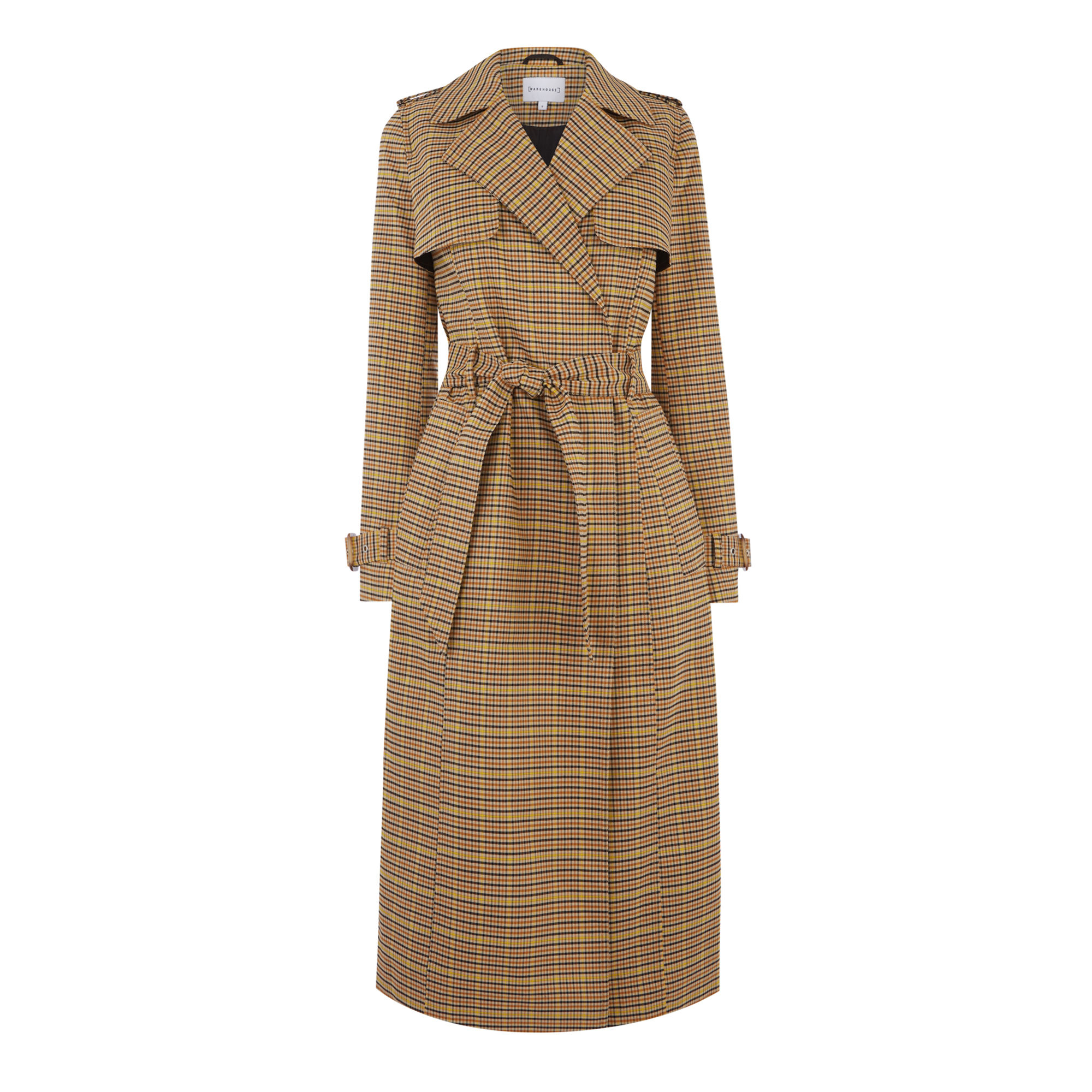 CLEAN CHECK TRENCH COAT | Warehouse