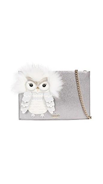owl clutch bright bag