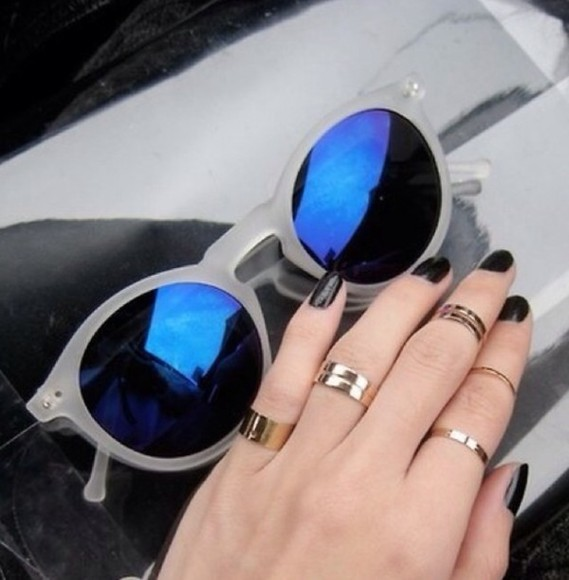 sunglasses round sunglasses retro sunglasses blue
