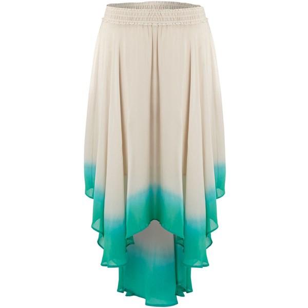Label lab dip dye graduated hem skirt