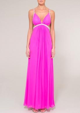 HAILEY - Neon pink dress