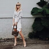 happily grey,blogger,shoes,skirt,sweater,bag