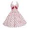 50s white red polka dots halterneck dress 84108 [84108]